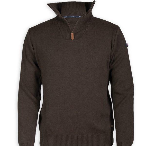 jersey lana-acrilico marron