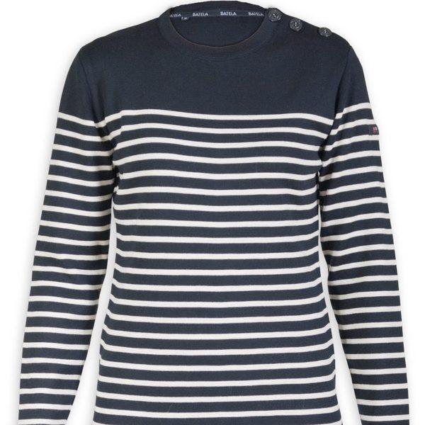 jersey lana marino rayas mujer