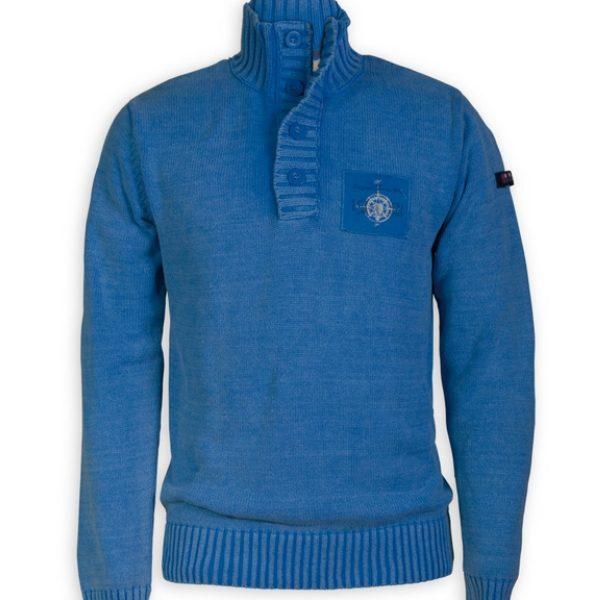 jersey punto-algodon azul