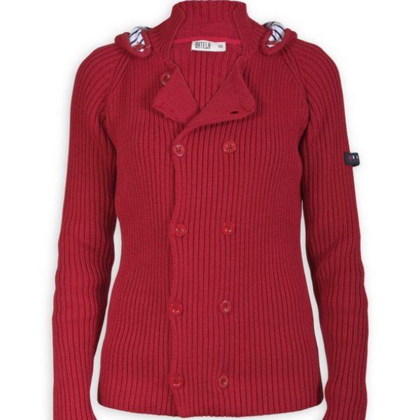 jersey punto algodon rojo mujer